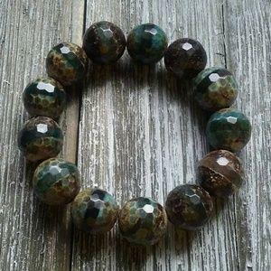 Jewelry - Chunky Agate gemstone bead bracelets